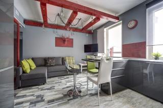 стильная 3-комнатная квартира с балконом в аренду в элитном доме С-Петербург